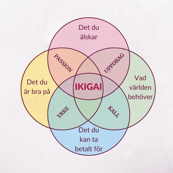 bild på de fyra områden som bygger IKIGAI