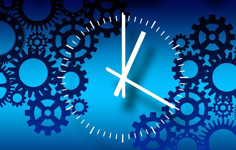 klocka och kugghjul som står för rutiner